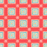 Tribal pattern with squares Royalty Free Stock Images