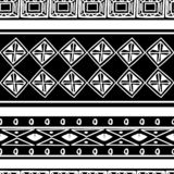 Tribal pattern texture with hand drawn african, aztec, maya creative drawing vector illustration. Black and white stripes patterns. Ethnic monochrome style royalty free illustration