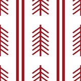 Tribal pattern texture with hand drawn african, aztec, maya creative drawing vector illustration. Red stripes patterns vector illustration