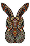 Tribal patterned Rabbit. Royalty Free Stock Photos