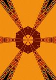 Tribal Patterns Black Red Gold