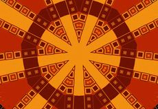 Tribal Patterns in Brown Gold Royalty Free Stock Photos