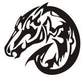 Abstract black horse head symbol Stock Photo