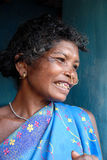 Tribal People in India. Koraput,Orissa,India,January 29,2011-A close portrait of a tribal woman at the remote village in Orissa Royalty Free Stock Photography