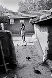 Tribal People in India. July 02, 2011.Bastar, Chhattisgarh,Madhya Pradesh,India,Asia-A tribal woman going for water collection in the remote village of Bastar royalty free stock images