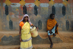 Tribal People in India Stock Image