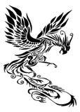 Tribal phoenix tattoo Stock Photos