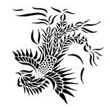 Tribal phoenix tattoo Stock Image