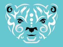 Tribal polar bear illustration stock illustration