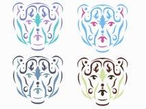 Tribal polar bear illustration royalty free illustration