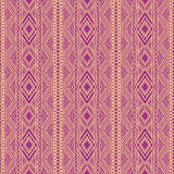 Tribal purple and orange pattern Stock Photos