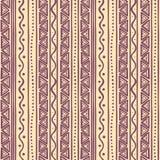 Tribal purple striped pattern Stock Image