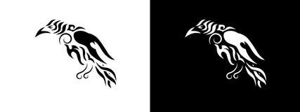 Tribal raven illustration. vector illustration