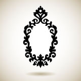 Tribal reflected black tattooed frame Royalty Free Stock Photography