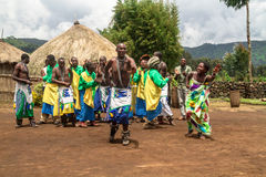 Tribal Ritual, Rwanda Stock Photo