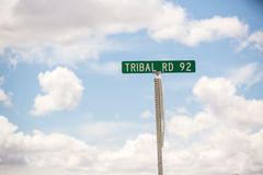 Tribal Road Sign Stock Photo