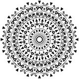 Tribal round ornament with decorative elements Stock Photos