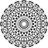 Tribal round ornament with decorative elements Royalty Free Stock Photo
