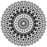 Tribal round ornament with decorative elements Royalty Free Stock Photos