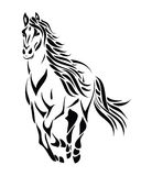 Tribal running horse. Vector illustration of tribal running horse tattoo Royalty Free Illustration