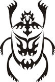 Tribal sacred scarab tattoo. Vector illustration stock illustration