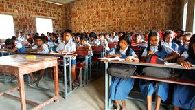 Tribal School in India Royalty Free Stock Photos