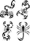 Tribal Scorpions Tattoo set Royalty Free Stock Photos