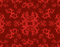 Tribal Scroll Background - Burgundy & Red Royalty Free Stock Photo