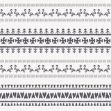 Tribal seamless background with geometric ornament Royalty Free Stock Photos