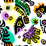 Tribal seamless background Stock Image