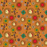 Tribal seamless background Royalty Free Stock Image