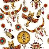 Tribal seamless background Stock Image
