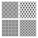 Tribal seamless black pattern set vector illustration