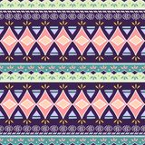 Tribal seamless chevron triangle pattern. African print decorative traditional vintage. Colorful abstract background. Hand drawn. Vector illustration trendy for vector illustration
