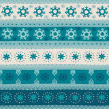 Tribal seamless Christmas pattern. Royalty Free Stock Photo