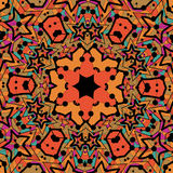 Tribal seamless design in orange color. Seamless Stock Photography