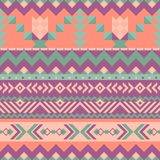 Mexican seamless pattern with geometric shapes. Tribal seamless Mexican pattern. Geometrical ornament with ethnic motifs stock illustration