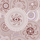 Tribal seamless paisley texture Stock Photography