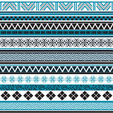 Tribal seamless pattern. Abstract background with ethnic ornament. Seamless background with different geometric shapes. Vector illustration Royalty Free Stock Photos