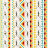 Tribal Seamless Pattern With Abstract Pond-skaters Royalty Free Stock Image