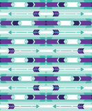 Tribal seamless pattern with arrow Royalty Free Stock Photos
