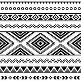 Tribal seamless pattern, aztec black and white background Royalty Free Stock Image