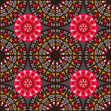 Tribal Seamless Pattern. Ethnic seamless ornament. Tribal round patterns at symmetric composition. Aboriginal culture elements Stock Image