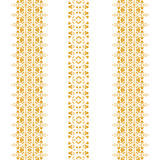Tribal seamless pattern gold vertical Royalty Free Stock Photography