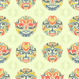 Tribal Seamless Pattern Stock Photography