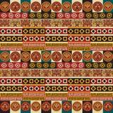 Tribal seamless texture. Mayan aztec tribal seamless texture Royalty Free Stock Image