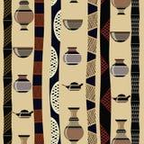 Tribal seamless texture with utensils Stock Photos