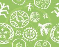 Tribal seamless vector texture ,ancient rock paintings (petroglyph). Tribal seamless vector texture - immitation of ancient rock paintings (petroglyph Royalty Free Stock Photos