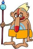 Tribal shaman fantasy character Royalty Free Stock Photo