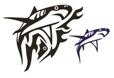 Tribal shark vector Royalty Free Stock Photos